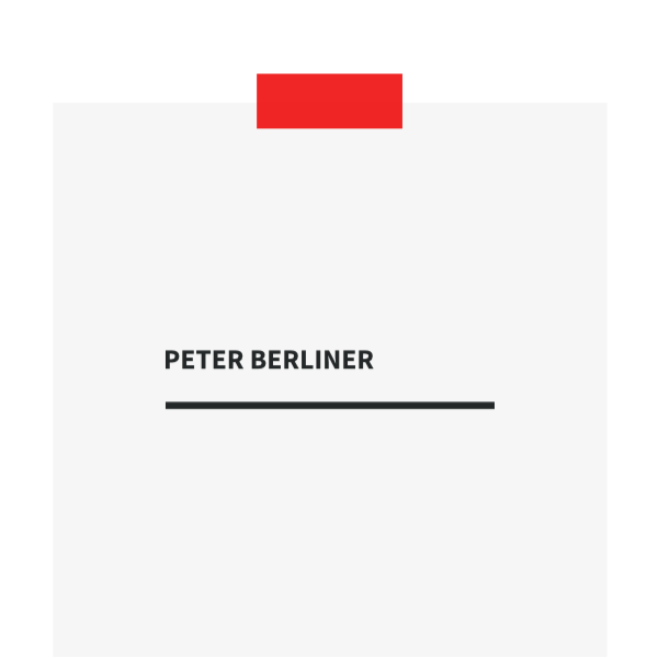 Projekt Peter Berliner brandanddigital